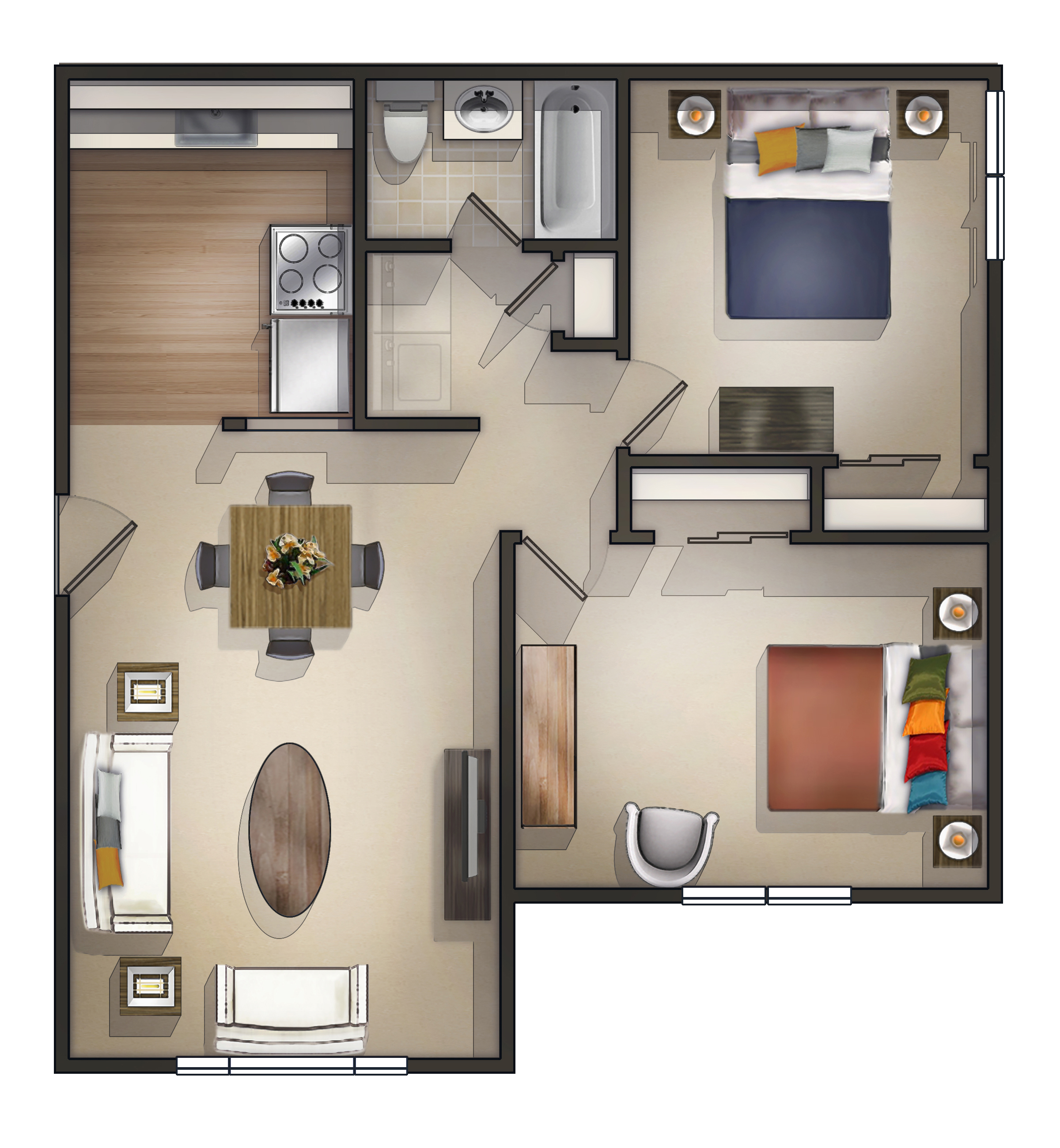 2 Bedroom Apartment Floor Plan   Sanford Manor Apartments  Maine. 2 Bedroom Apartment in Sanford ME at Sanford Manor Apartments