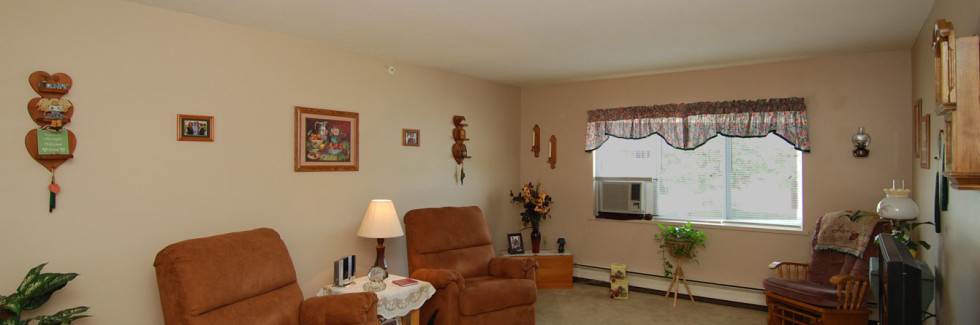 Living Room at Sanford Manor Apartments